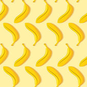 Seamless pattern of yellow banana — Stock Vector