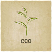 Eco old background — Stock Vector