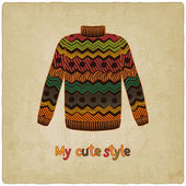 Cute sweater old background — Wektor stockowy