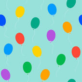 Colored balloons seamless pattern — Vector de stock