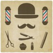 Постер, плакат: Barber old background