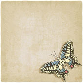 Butterfly machaon old background — Stock Vector