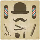 Barber old background — Stock Vector