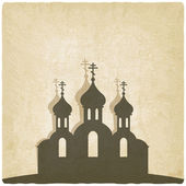 Orthodox church old background — Stock Vector