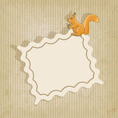 Retro background with squirrel — Stock Vector