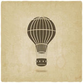 Hot air balloon old background — Stock Vector