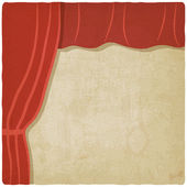 Red curtain old background — Stockvektor