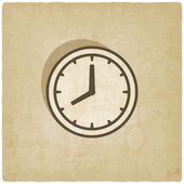 Clock face old background — Stock Vector
