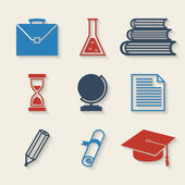 Eğitim icons set — Stok Vektör