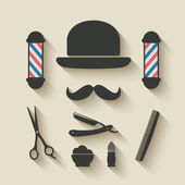 Barber icon set — Stock Vector