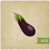 Aubergine eco background — Stock Vector