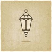 Ramadan lantaarn oude achtergrond — Stockvector