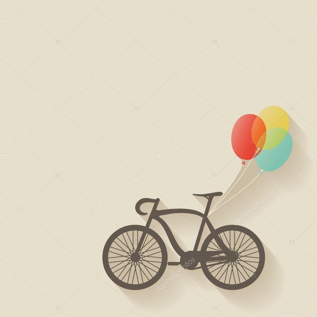 骑自行车的气球 — 图库矢量图像08