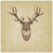 Deer old background — Stockvektor
