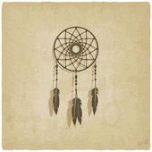 Dreamcatcher old background — Stock Vector