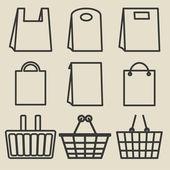 Store bag set — Stock Vector
