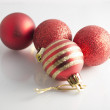 Cristmas decoration - red balls — Stock Photo