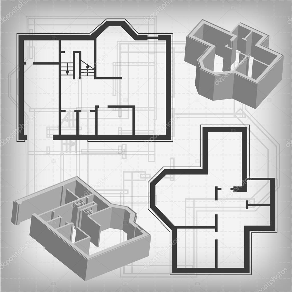 Planos arquitect nicos archivo im genes vectoriales for Dibujos de muebles para planos arquitectonicos