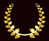 Guld lagerkrans — Stockvektor