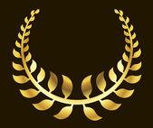 金月桂樹のリース — ストックベクタ