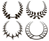 Laurel wreath illustration — Vecteur