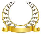 Gold laurel wreath — Stock Vector