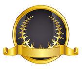 Gouden lauwerkrans van caesar — Stockvector
