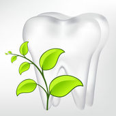 Toothtooth with leaves. vector mesh illustration — Stok Vektör
