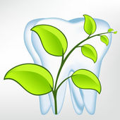 Toothtooth with leaves. vector mesh illustration — Stock Vector