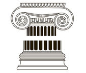 Old-style greece column. eps10 vector illustration — Stock Vector