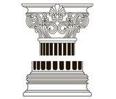 Old-style greece column. eps10 vector illustration — Stock Vector