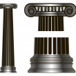 Old-style greece column. eps10 vector illustration — Stock Vector #25530217