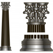 Old-style greece column. eps10 vector illustration — Stock Vector #25530219
