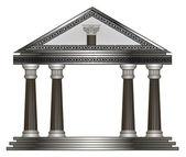 罗马、 希腊的神庙。eps10 矢量图 — 图库矢量图片