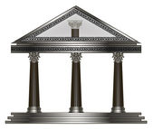 Roman, Greek Temple. eps10 vector illustration — Vector de stock