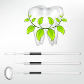 Tooth and dental tools design elements. eps10 vector illustration — Stock Vector