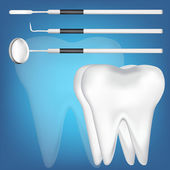 Tooth and dental tools design elements. eps10 vector illustration — Stok Vektör