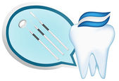 Tooth and dental tools design elements. eps10 vector illustration — Vetorial Stock