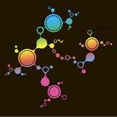 Fondo di struttura del dna molecola. illustrazione vettoriale eps10 — Vettoriale Stock