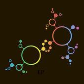 Pozadí struktury molekuly dna. eps10 vektorové ilustrace — Stock vektor