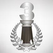 Greece column, laurel wreath and number. eps10 vector illustration — Stock Vector