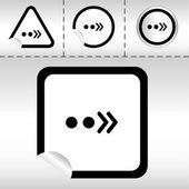 在现代风格的不干胶标签按钮不同窗体上的箭头,设定简单图标。eps10 矢量图 — 图库矢量图片