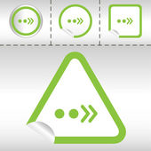 Simple icon set of arrows on sticker button different forms in modern style. eps10 vector illustration — Stok Vektör