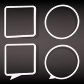在圆形和方形的空 web 图标按钮的集合。windows 小贴纸。eps10 矢量图 — 图库矢量图片