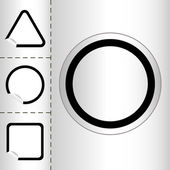 Set of empty web icon button in circle and square shape. small sticker windows. EPS10 vector illustration — Stock Vector