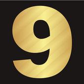 ベクトル デジタル数です。黒地にストライプの数字 — ストックベクタ