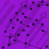 Resumen tecnología forrado fondo de plantilla de diseño web. ilustración de vector eps10 textura — Vector de stock
