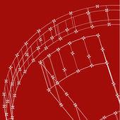 Abstrakte technik gesäumten vorlage hintergrund für web-design. eps10-textur-vektor-illustration — Stockvektor