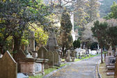 Path through old Christian cemetery — Stock Photo