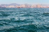 Hong Kong port sea texture — Stock Photo